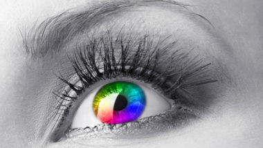 Beautiful colorful eye close up